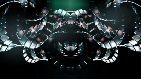 Dark background with organic metallic shapes Animation