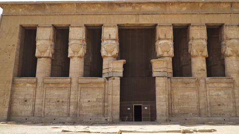 Dendera temple or Temple of Hathor. Egypt. Dendera, Denderah, is a small town in Footage
