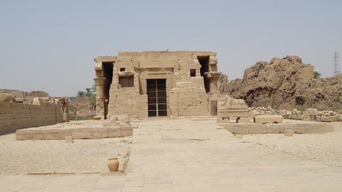 Dendera temple or Temple of Hathor. Egypt. Ruins of the... Stock Video Footage