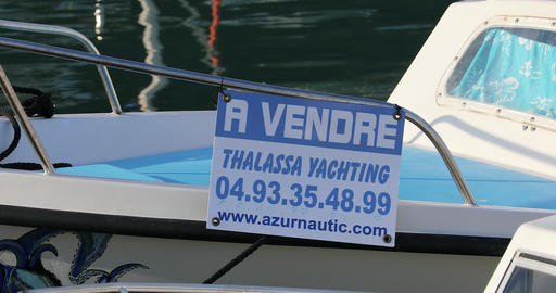 Boat For Sale Sign Archivo