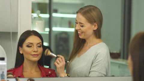 Beautiful girls in a beauty salon Footage