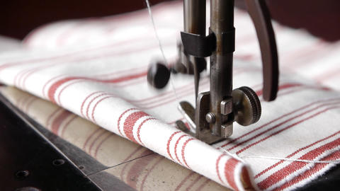 Sewing machine close up Live Action