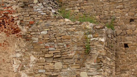 Footage retro stone wall background texture Live Action