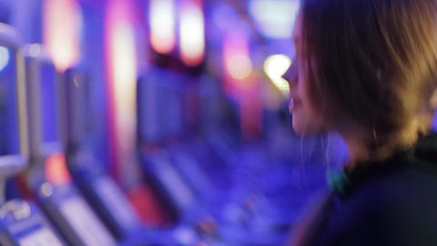 Woman Running On A Treadmill Close Up Shot stock footage