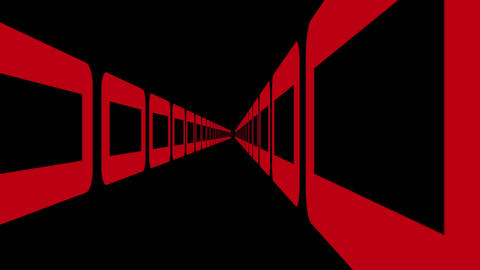 retro game style ,infinite tunnel flight animation Stock Video Footage