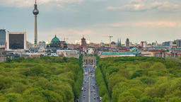 Berlin Germany time lapse 4K, city skyline timelapse at Tier Garden Footage