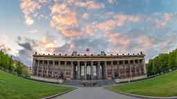 Berlin Germany time lapse 4K, city skyline sunset timelapse at Museum Island Footage