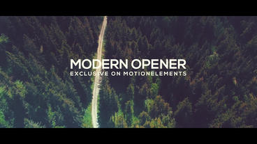 Modern Opener After Effects Template