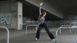 Urban Dance Moves on the Sidewalk Footage