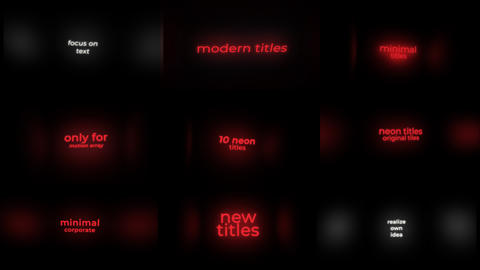 Neon Sign Titles After Effects Template