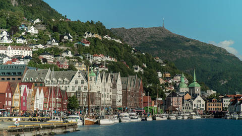 Bergen Norway Time Lapse Live Action