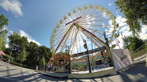 Ferris Wheel at a Carnival in Berlin Footage