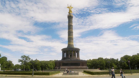 Victory Column in Berlin Germany Live Action