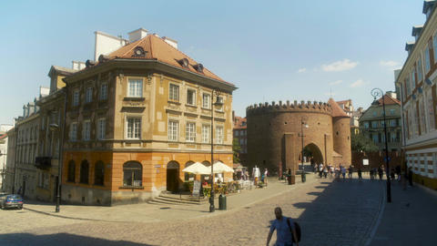 Old Town Warsaw Poland Live Action