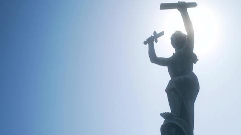 Peace Monument Statue Medium Footage