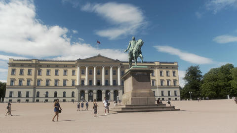 Royal Palace Oslo Norway Live Action