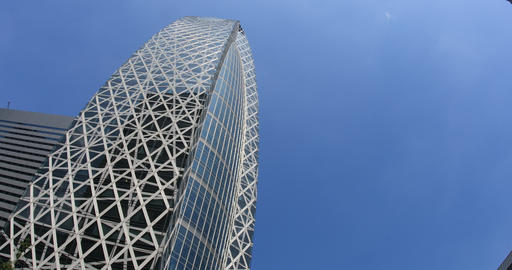 Building and blue sky in the business town at west Shinjuku ビデオ