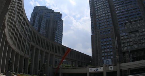 Building in the business district at west Shinjuku ビデオ