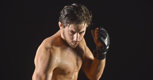 Athletic Male Boxing Slow-Motion GIF