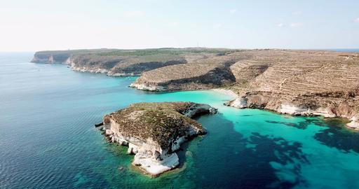 Coastline And Isola Dei Conigli Lampedusa Italy Sky View GIF