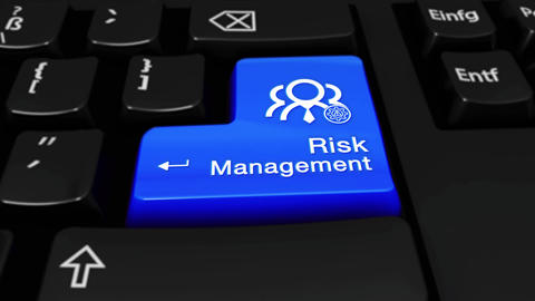 45. Risk Management Round Motion On Computer Keyboard Button with Text and icon Live Action