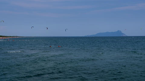 Kitesurf on a beautiful summer day 영상물