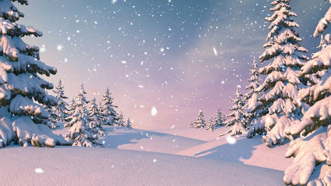 Winter Forest, Christmas Background Animation