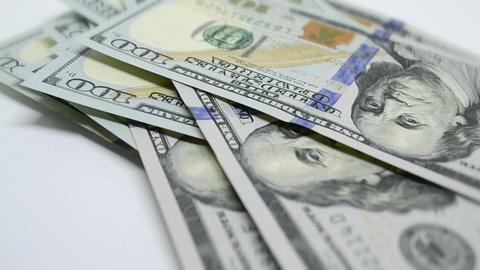 Businessman Hands Counting Hundred Dollar Bills Footage