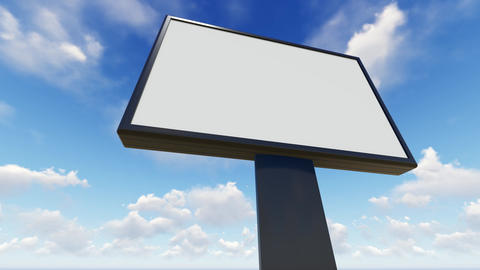 Billboard blank for outdoor advertising poster Animation