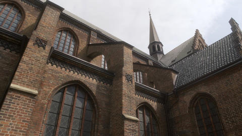 St Peter's Church or St Petri in Malmo Sweden Live Action