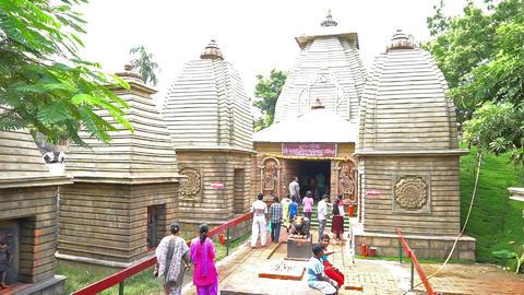 Durga Puja Pandal, Kolkata, West Bengal, India ビデオ