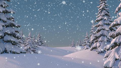 Beautifull Winter Background Animation