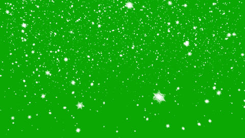 Snow Falls on a Green Background Animation