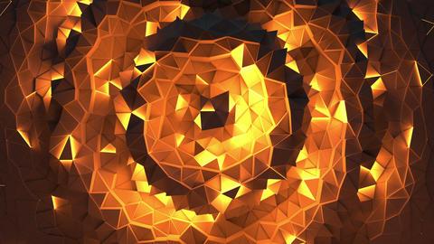 Abstract shining triangular geometric loop background Animation
