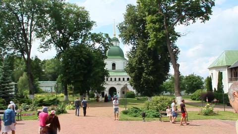 Spaso-Preobrazhensky Novhorod-Siverskyi male monastery Footage