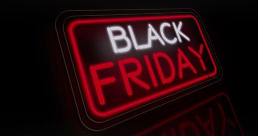 Black Friday neon flying 3 Animation