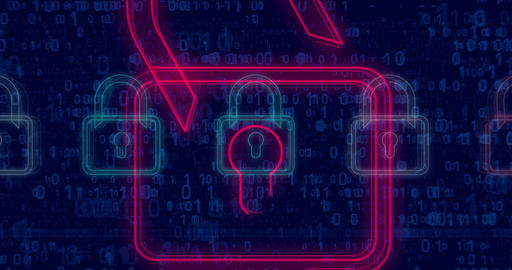 Cyber security padlocks v1-4K Animation