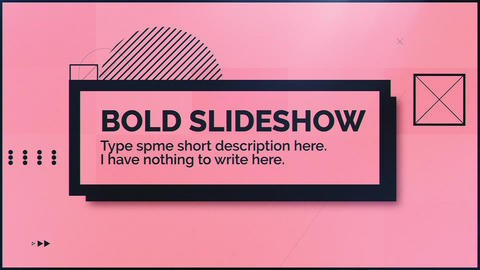 Bold Slideshow After Effects Template