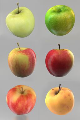 Apples 1-6 ME 3Dモデル