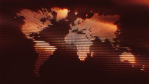 Abstract globe background with digital waves in... Stock Video Footage