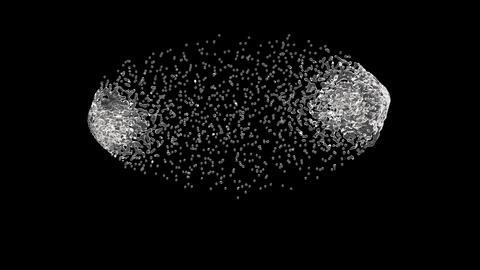 Two water flows making splash ビデオ