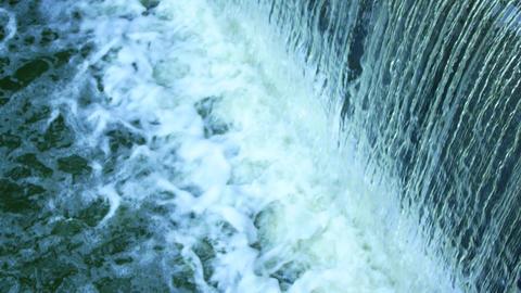 Water falls through the lock Footage