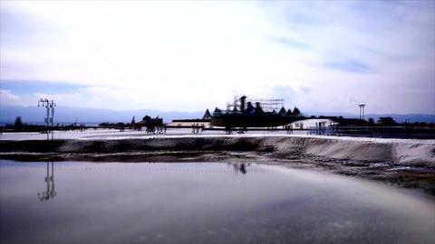 China Chaka Salt lake view from train 01 GIF