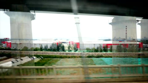 Time lapse shot from a high speed train in China 02 Live Action