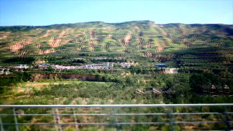 Time lapse shot from a high speed train in China 05 Footage