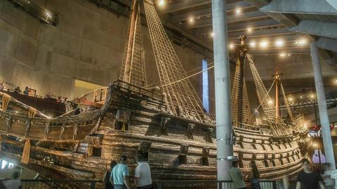 Vasa Museum Large Ship Time Lapse Footage
