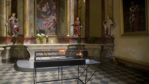 Beautiful Church Interior Stock Video Footage