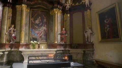 Beautiful Church Interior Footage