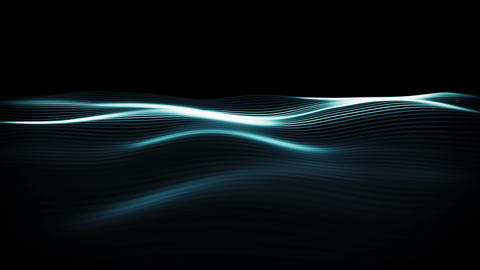 Digital waves in a cyber space. Abstract surface background with smooth motion. Animation