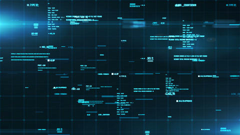System interface with information on a screen. Abstract... Stock Video Footage